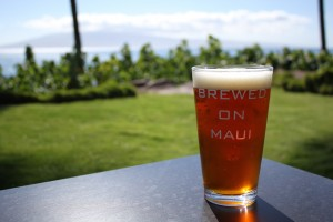 Beer on the beach from Maui Brewing Company, a partner in April's Tastemaker Series. Photo courtesy of Hyatt Regency Maui Resort & Spa.