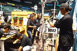 Lahainaluna Robotics Team photo.