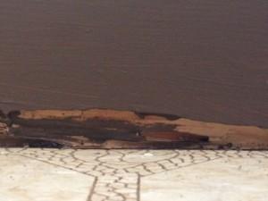 Termite damage. Maui Now photo.