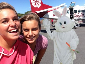 Easter Bunny to ilsnd hop on Mokulele Airlines. Courtesy photo.