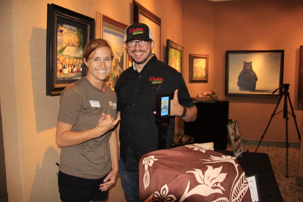 Morgan Terrell (Left) Joe P. Lorenzen Brewmaster (Right) Waikiki Brewing Co. Photo credit: Marlo Antes.