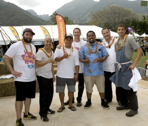Grand Taste chefs at Maui County Ag Festival. Courtesy photo.