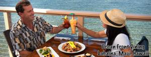 Dining overlooking the water at Koa's Seaside Grill in Lahaina. Photo courtesy of Koa's Seaside Grill.