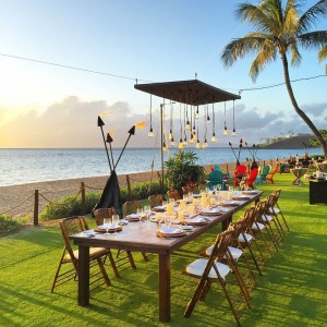 Sunset dining and night s'mores photo courtesy Westin Maui Resort & Spa.