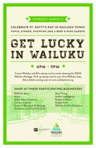 Wailuku St. Patrick's Day flyer.