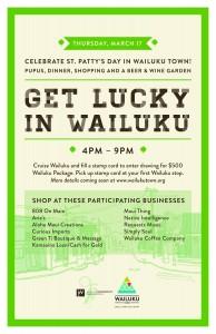 Wailuku St. Patrick's Day flyer.
