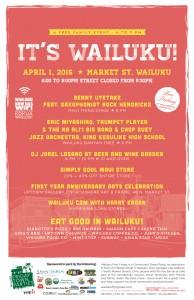 Wailuku First Friday graphic.
