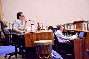 Budget and Finance Committee Chair Riki Hokama. Photo credit: Office of Council Services.