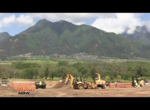Central Maui Regional Sports Complex - Phase 1 Construction. Image Credit: DLNR.