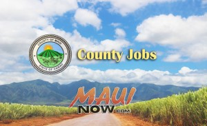 County jobs. Background image of Maui credit: Wendy Osher.