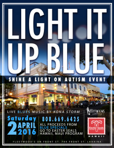 Fleetwood's Light it Up Blue event to support autism awareness on April 2.