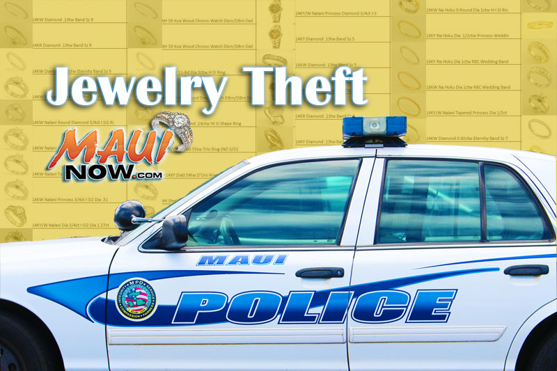 Jewelry theft. Image: Wendy Osher / Maui Now.
