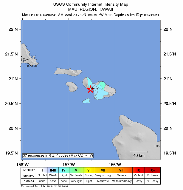 Maui Now Earthquake Rattles Maui - Maui zip code