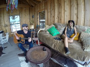 "During SXSW, Maui singer/songwriter, Lily Meola and Lukas Nelson invited GoPro to Willie Nelson's Ranch in Luck, Texas for an intimate performance of their duet ""Sound of Your Memory."" Credit: GoPro."