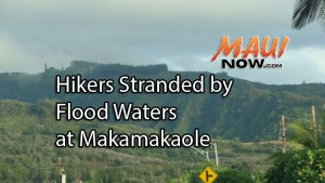 Fire crews respond to a water rescue at Makamakaʻole Gulch. File photo from Kahekili Highway looking toward Waiheʻe by Wendy Osher.