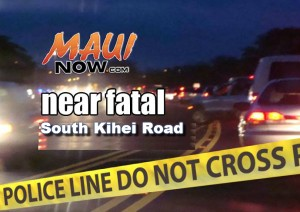 Near fatal accident, South Kīhei Road.