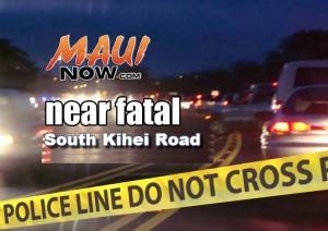 Near fatal accident, South Kīhei Road.