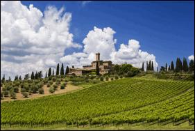 Castello Banfi Winery in Montalcino, Tuscany. Photo courtesy of Mākena Beach & Golf Resort.