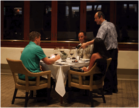 Richard Rossi with guest at last year's Banfi Wine dinner. Photo courtesy of Mākena Beach & Golf Resort.