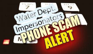 Water Department Impersonators phone scam. Graphic by Wendy Osher / Maui Now.