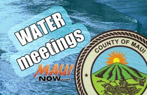 Water meetings. Maui Now graphic.