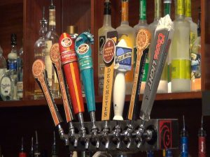 Beers on tap at Three's Bar & Grill. Photo by Kiaora Bohlool.