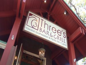 Three's sign welcomes you in Kihei. Photo by Kiaora Bohlool.