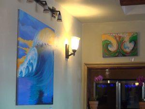 Wave decor at Three's. Photo by Kiaora Bohlool.
