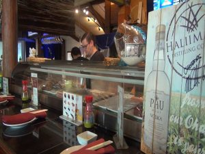 Sushi bar at Three's, open from 11 a.m. to 10 p.m. daily. Photo by Kiaora Bohlool.