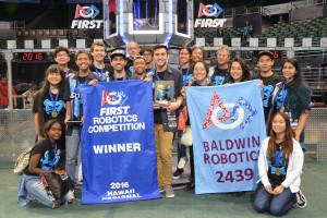 Baldwin High's robotics team led the winning alliance at the 2016 Hawaii FIRST Regional Competition, and will be heading to the world championship in St. Louis, Missouri, April 27-30, 2016.