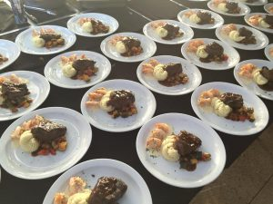 Food for a Three's catering event. Courtesy photo.