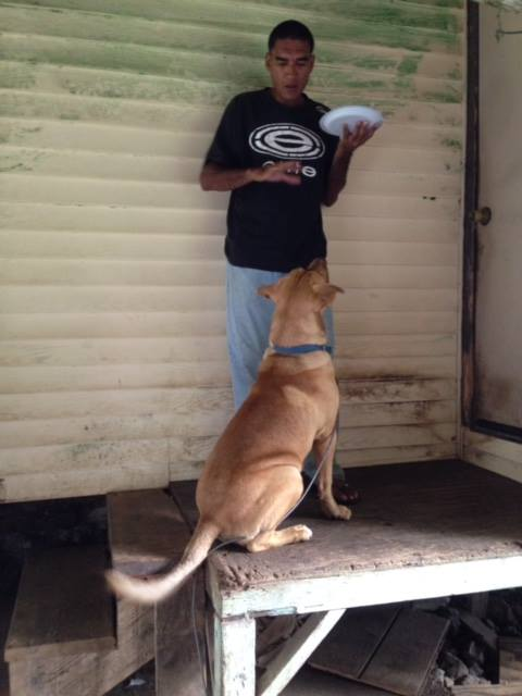 Billy and his dog Roach - photo taken March 28, 2014. Photo credit: Help Us Find Billy Oliveira Facebook page