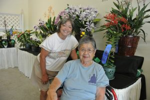 West Side Maui Orchid Society mom and daughter members, Jocelyn Phillip and Asaye Aotaki, will attend the annual Mother's Day show. MOS photo.
