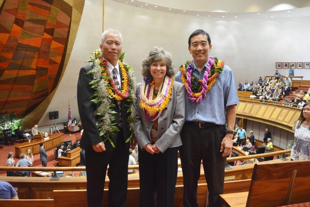 Charlotte Carter-Yamauchi was approved as the director of LRB, Robin Matsunaga as the ombudsman, and Leslie Kondo as legislative auditor. Photo courtesy: Hawaiʻi State Legislature.