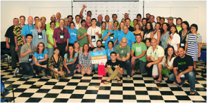 Last year's event drew more than 80 residents and visitors. Pictured here are members of Startup Weekend Maui's 2016 alumni plus the coaches, mentors, judges and the Maui Economic Development Board staff. Photo credit: Casey Nishikawa