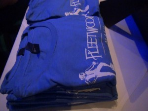 Blue t-shirts on sale at Fleetwood's, to benefit Easter Seals Hawai'i. Photo by Kiaora Bohlool.