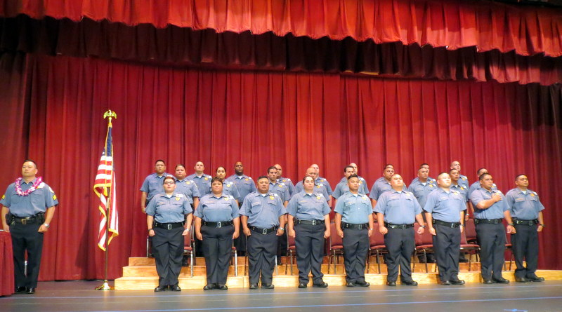 Basic Corrections Recruit Class 16-01. Courtesy photo: Hawaiʻi Department of Public Safety.