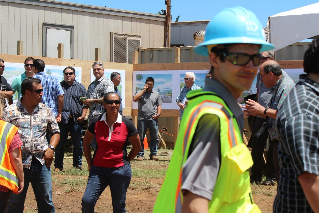 Groundbreaking of Maui's Kahului Airport Consolidated Rent-A-Car facility. Photo by Wendy Osher. (4.15.16)