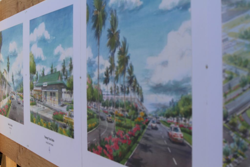 Project renderings of the Kahului Airport Consolidated Rent-A-Car facility. Photo by Wendy Osher. (4.15.16)