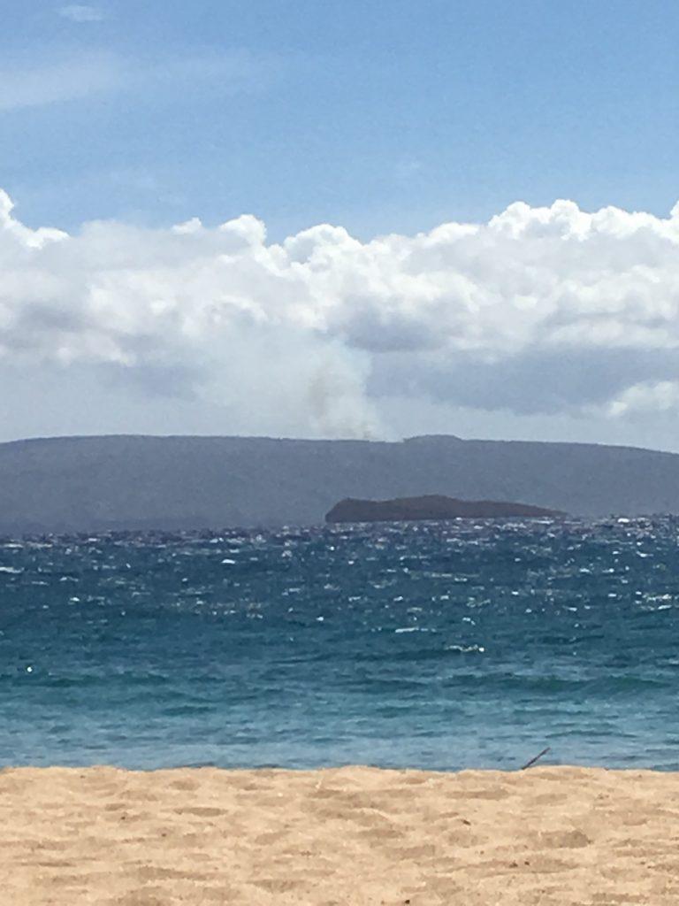 Kahoolawe fire. Image credit: Whitney Kuehl