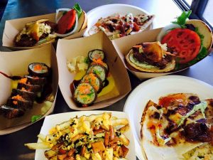 An array of food from Three's food truck. Courtesy photo.