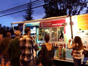 Three's food truck in action. Courtesy photo.