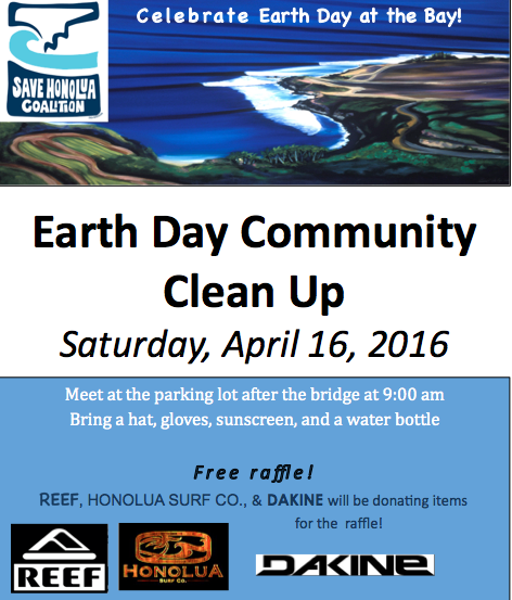 Earth Day Cleanup flyer.
