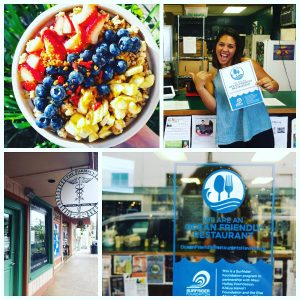 Farmacy Health Bar in Wailuku (and Pukalani) is is certified as Ocean Friendly. Courtesy photo.