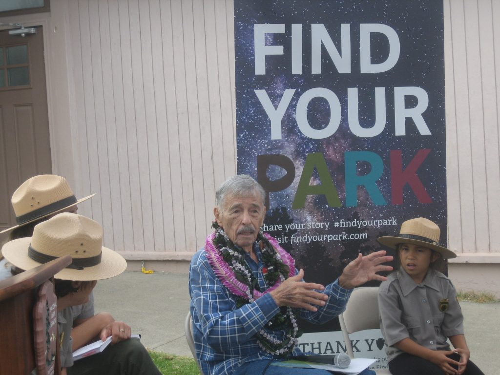 Uncle Rex answering questions about the CCC. Photo courtesy Haleakalā National Park.