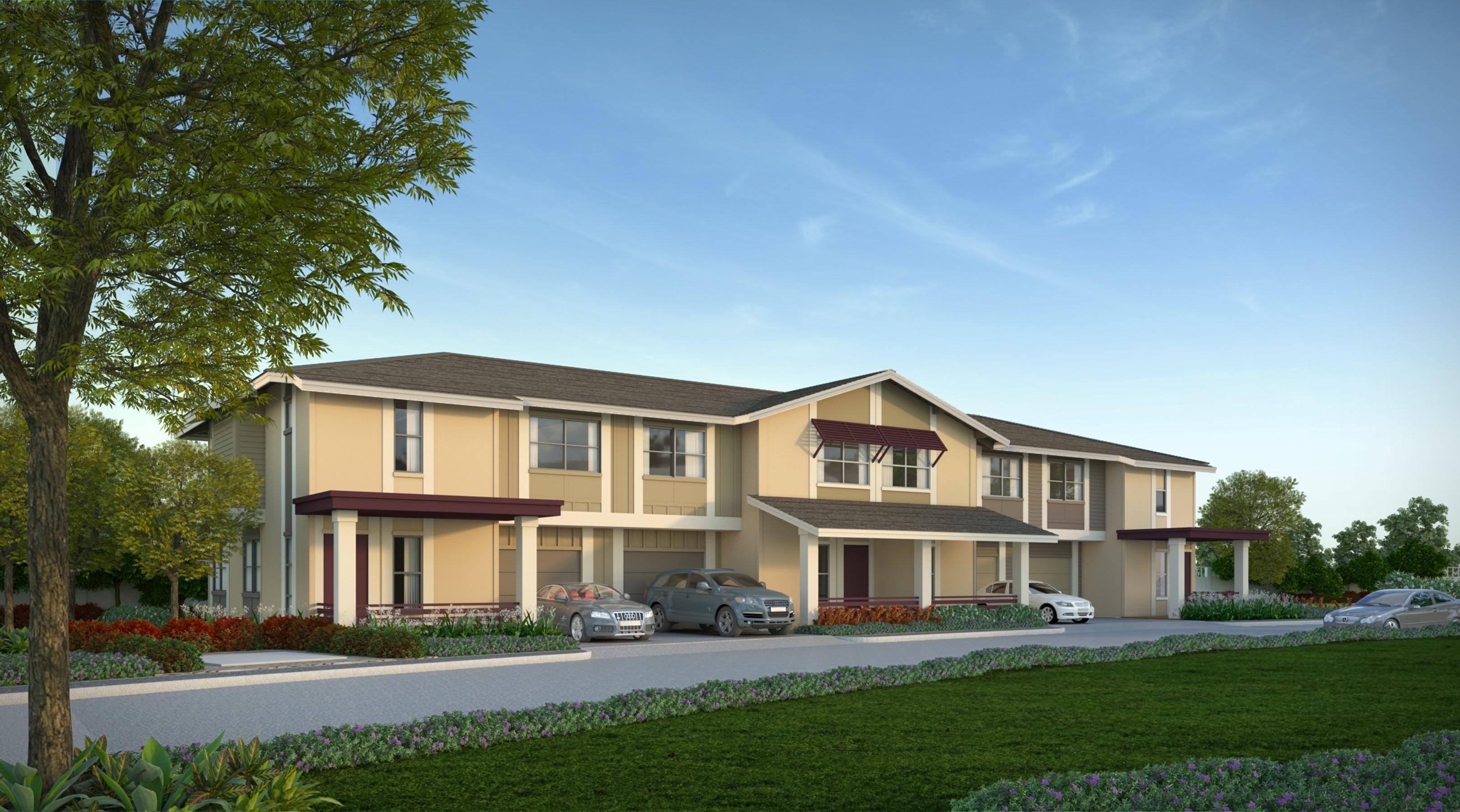 Townhomes at Kamalani. Project rendering. Courtesy image.