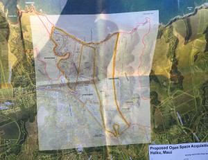Map of proposed acquisition area. HILT map. Debra Lordan photo.