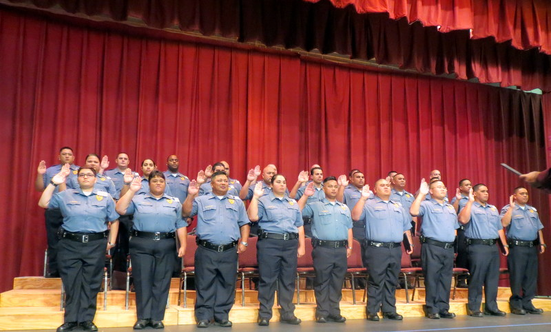 Basic Corrections Recruit Class 16-01. Oath of Duty. Courtesy photo: Hawaiʻi Department of Public Safety.