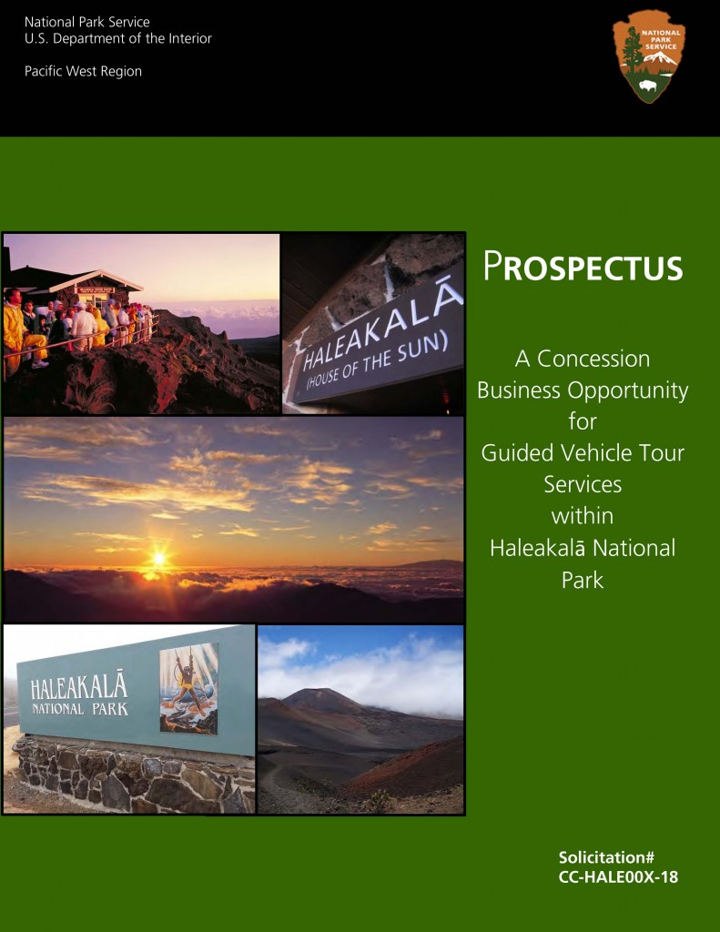 Prospectus Solicitation front cover. Image courtesy Haleakalā National Park.