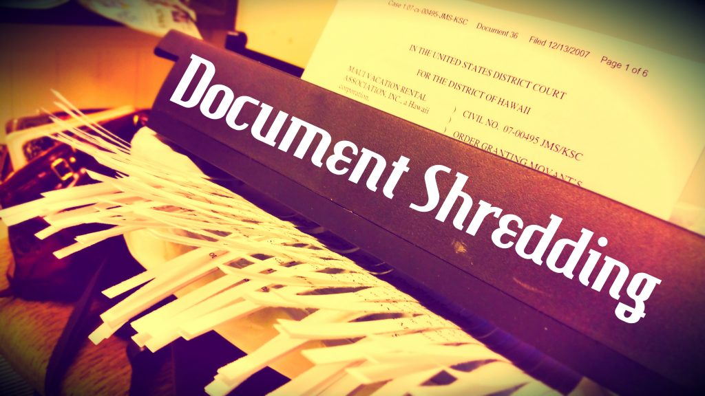 Document Shredding. Maui Now graphic by Wendy Osher.